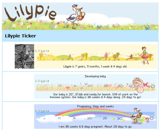 Lilypie Page tab on Facebook